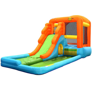 Happy Hop Inflatable Water Slide Water Park Jumping Castle Bouncer Waterslide - Kids Ride On Cars