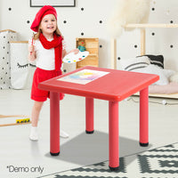 Keezi Kids Table Study Desk Children Furniture Plastic Red - Kids Ride On Cars