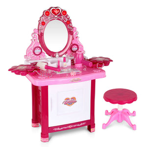 Keezi 30 Piece Kids Dressing Table Set - Pink - Kids Ride On Cars