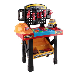 Keezi 52 Piece Kids Workbench Set - Black - Kids Ride On Cars
