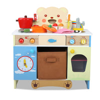 Keezi 10 Piece Kids Kitchen Play Set - Kids Ride On Cars