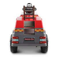 Fire Truck Electric Toy Car - Red & Grey - Kids Ride On Cars
