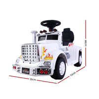 Ride On Cars Kids Electric Toys Car Battery Truck Rigo White - Kids Ride On Cars