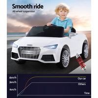 Audi Licensed Kids Ride On Cars Electric Car Children Toy Cars Battery White - Kids Ride On Cars