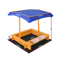 Keezi Outdoor Canopy Sand Pit - Kids Ride On Cars