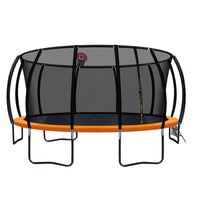 16FT Trampoline With Basketball Hoop - Orange - Kids Ride On Cars