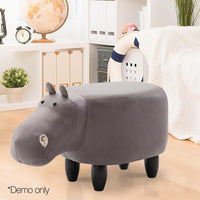 Kids Animal Stool - Grey - Kids Ride On Cars