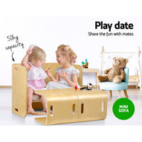Artiss Kids Table and Chair Set Study Desk Dining Wooden - Kids Ride On Cars