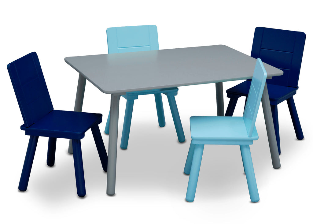 Table And Chairs - Blue - Kids Ride On Cars