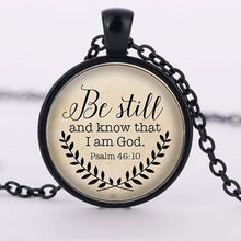 Be Still and Know That I am God Pendant, Psalm 46:10 Your Choice of Finish. FREE Shipping!