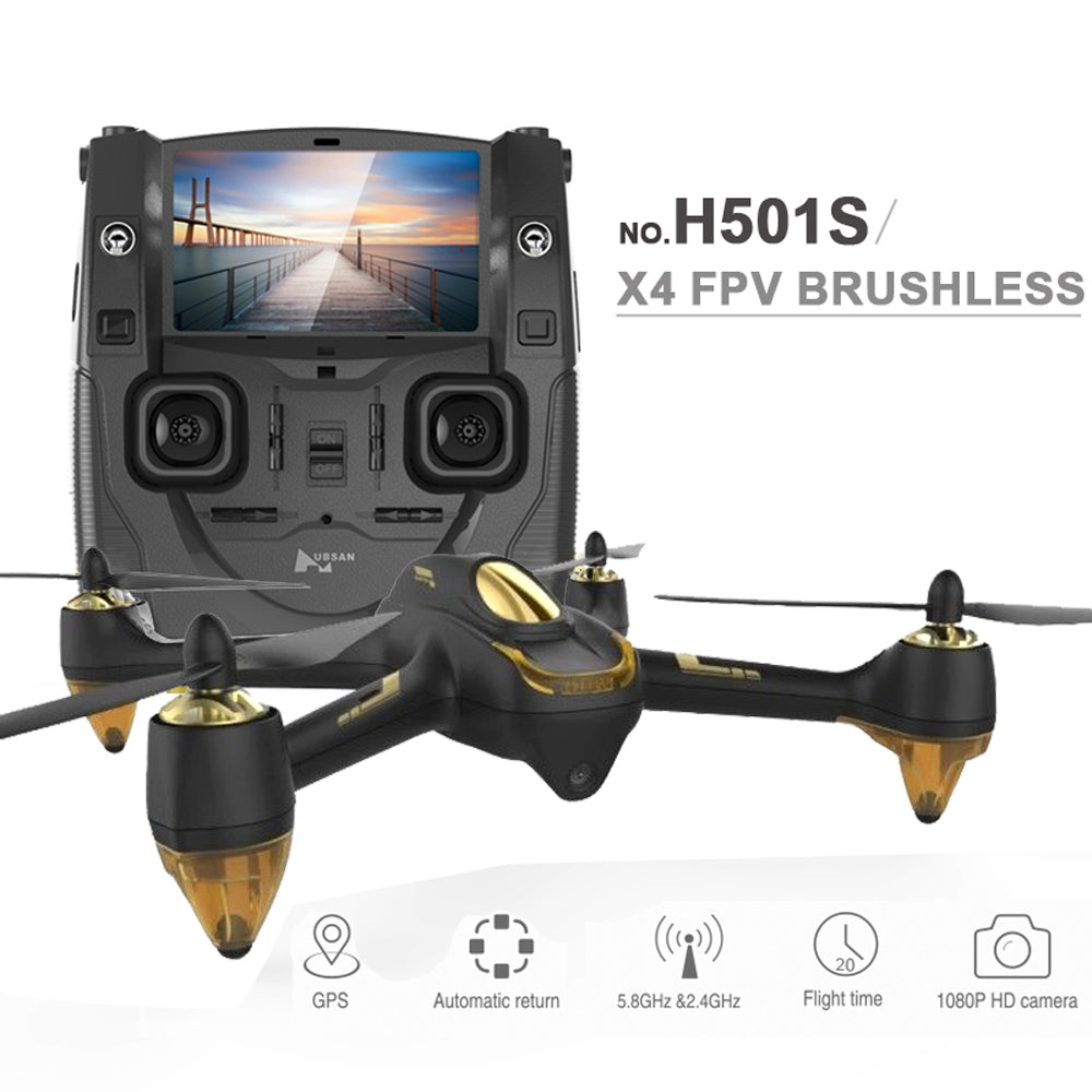 2016 NEW HUBSAN X4 H501S FPV Professional Quadcopter Drone with 1080P Camera GPS Follow Me & Return Home