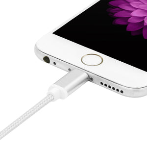 For iPhone 7 6 5 Robotsky 8 Pin Metal Braided Wire Sync Data Charger USB Cable for iPhone 7 6 6s Plus 5 5s iPad 4 mini 2 3 Air 2
