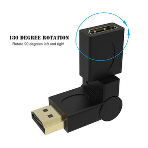 Robotsky HDMI Male to HDMI Female Cable Adapter Connect Extender HDMI 1.4 For 1080P HDTV 180 360 Degree Angle Rotating Converter