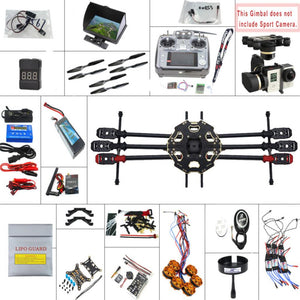 680PRO PX4 GPS 2.4G 10CH 5.8G Video FPV RC Hexacopter Unassembled Full Kit RTF DIY RC Drone Combo MINI3D Pro Gimbal