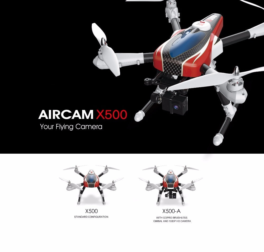 professional GPS rc drone X500 X500A 2.4G With GPS HD camera RC quadcopter GPS RTF Automatic return to home headless mode rc toy
