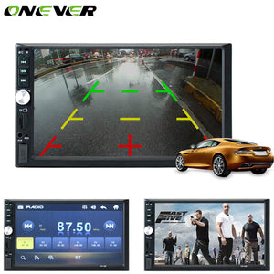 "Onever Car Electronics Video MP5 Players 7"" TFT HD 1080P Touch Screen Bluetooth Handsfree Car MP5 Player Support Rearview Camera"