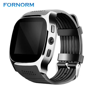 FORNORM T8 Bluetooth Smartwatch phone Wrist Watch Heart Rate Monitor Support TF SIM Card for Android OS