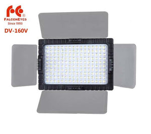 FALCONEYES DV-160V High CRI95 160 LED Video Light Lamp for Canon Nikon DV Camcorder DSLR Cameras
