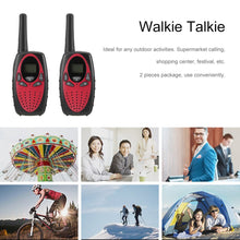 Portable 2 Pieces Walkie Talkie Two-way Radio Wireless Interphone with LCD Screen Display Adjustable Volume Control Belt Clip