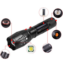 LED Tactical Flashlight Portable Handheld Torches Taclights Brightness Waterproof 5 Light Modes Perfect for Camping Biking Home Emergency or Gift