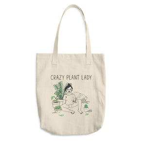 Crazy Plant Lady Cotton Tote Bag