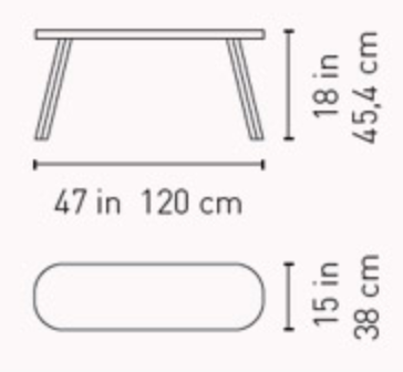 120 you and me bench by rs barcelona dimensions