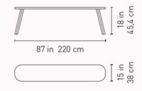 220 You and Me bench dimensions by RS Barcelona