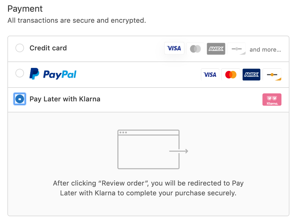 Luxebackyard.com Pay Later with Klarna