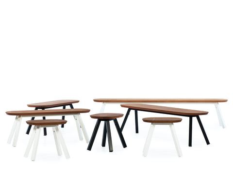 Kit 2 units 180 Iroko White You and Me Bench by RS BARCELONA - RS BARCELONA - luxebackyard