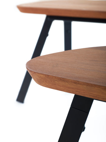 180 Iroko Black You and Me Bench by RS BARCELONA - RS BARCELONA - luxebackyard