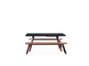 Image of Kit 2 units 180 Iroko Black You and Me Bench by RS BARCELONA - RS BARCELONA - luxebackyard