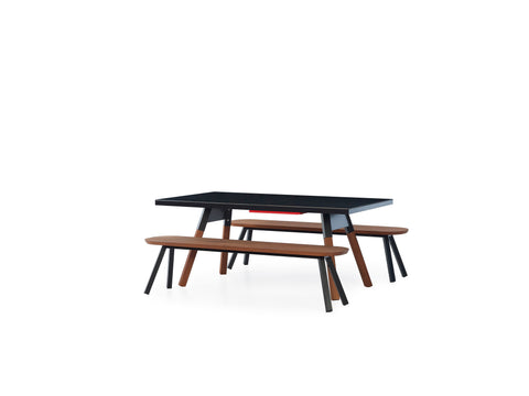 Kit 2 units 180 Iroko Black You and Me Bench by RS BARCELONA - RS BARCELONA - luxebackyard