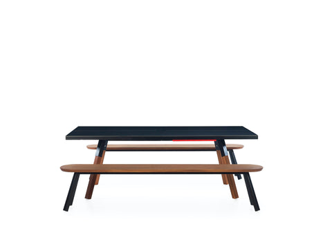 Kit 2 Units 220 Iroko Black You and Me Bench by RS BARCELONA - RS BARCELONA - luxebackyard
