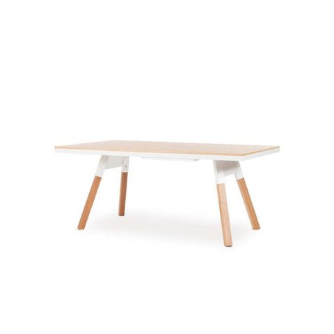 "You and Me ""Small"" Ping Pong Table - Oak White by RS BARCELONA - RS BARCELONA - luxebackyard"