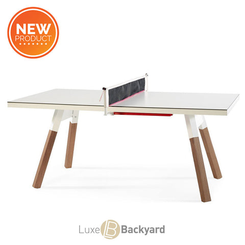 "You and Me ""Small"" Ping Pong Table - White by RS BARCELONA - RS BARCELONA - luxebackyard"