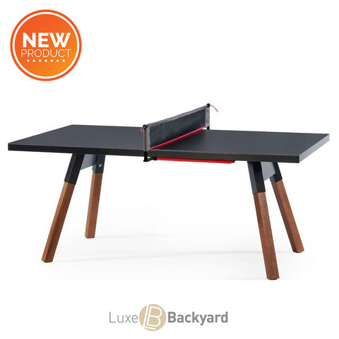 "You and Me ""Standard"" Ping Pong Table - Black by RS BARCELONA - RS BARCELONA - luxebackyard"