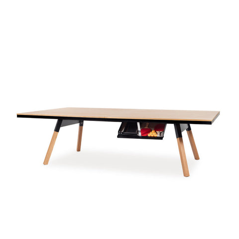 "You and Me ""Standard"" Ping Pong Table - Oak Black by RS BARCELONA - RS BARCELONA - luxebackyard"