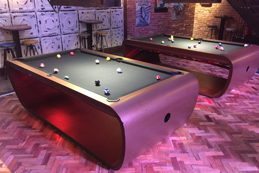 Charmant ... 2 Blacklight Pool Table Toulet | Brown And Black ...