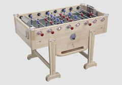 Vintage New Retro - Beech  - Design Foosball table - Debuchy by TOULET - Debuchy by Toulet - luxebackyard