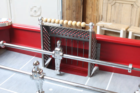 Vintage New Retro - Red - Design Foosball table - Debuchy by TOULET - Debuchy by Toulet - luxebackyard