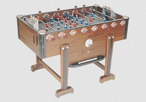 Vintage New Retro - Walnut - Design Foosball table - Debuchy by TOULET - Debuchy by Toulet - luxebackyard