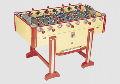 Vintage New Retro - Yellow - Design Foosball table - Debuchy by TOULET - Debuchy by Toulet - luxebackyard