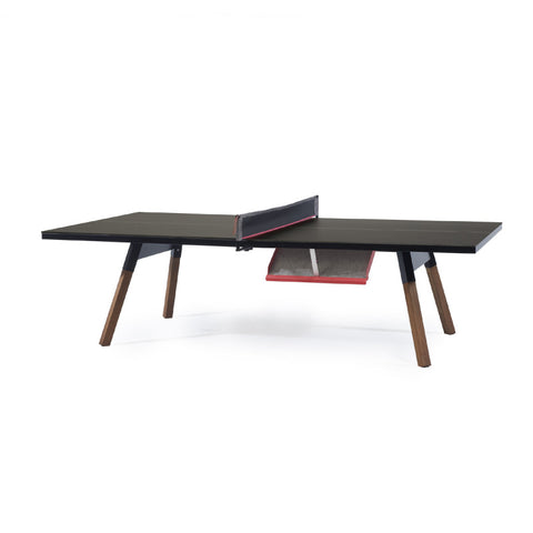 "You and Me ""Standard"" Modern Ping Pong Table - Black by RS BARCELONA - RS BARCELONA - luxebackyard"