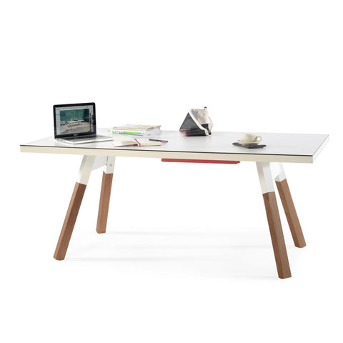 "You and Me ""Medium"" Ping Pong Table - White by RS BARCELONA - RS BARCELONA - luxebackyard"