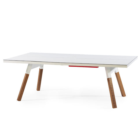 "You and Me ""Small"" Modern Ping Pong Table - White by RS BARCELONA - RS BARCELONA - luxebackyard"
