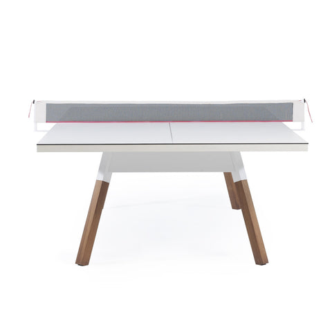 "You and Me ""Standard"" Modern Ping Pong Table - White by RS BARCELONA - RS BARCELONA - luxebackyard"
