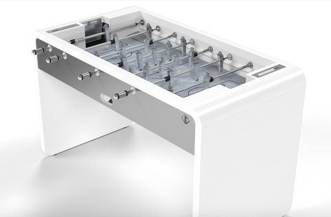 The T22 Stainless steel - Design Foosball table - Debuchy by TOULET - Debuchy by Toulet - luxebackyard