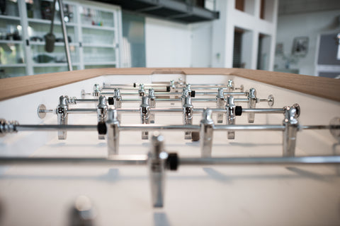 The Pure White - Design Foosball table - Debuchy by TOULET - Debuchy by Toulet - luxebackyard