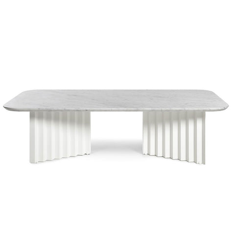 RS Barcelona Plec Coffee Table, White, Large, Steel