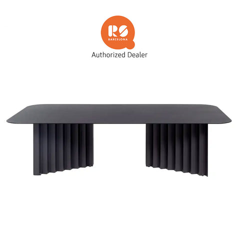 RS Barcelona Plec Coffee Table, Black, Large, Steel - RS BARCELONA - luxebackyard